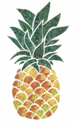 Hotfix Fabric Pineapple Design