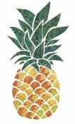 Hotfix Fabric Pineapple Design