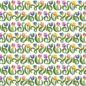Free Spirit Fabrics - Mini Tulips Rainbow